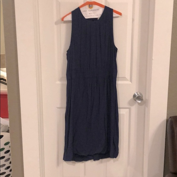 Kate Spade navy midi dress with cinched waistband